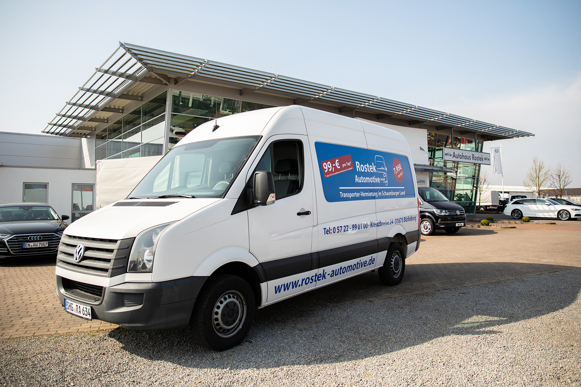 Rostek Automotive Crafter Vermietung Bückeburg